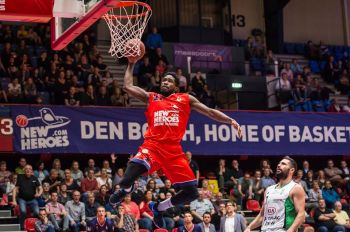 Norville S. Carey aka 'Banana' has had a mostly successful year playing for New Heroes Den Bosch in the Dutch Basketball League. Photo: Facebook/File