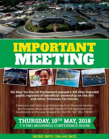 The poster advertising the meeting scheduled for today, May 10, 2018. Photo: Facebook