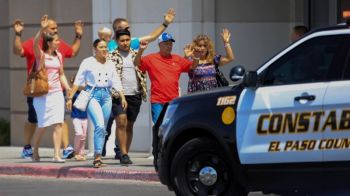At least 20 people were killed and 26 injured when a gunman opened fire in a packed shopping area of El Paso, Texas on August 3, 2019. Photo: Jorge Salgado/Reuters