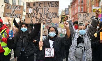 Though George P. Floyd Jr's death took place thousands of miles away, the cry for racial justice was felt deeply in the United Kingdom. Britons stood up against racism, declaring support in their thousands for the Black Lives Matter movement via a succession of passionate protests. Photo: Ben Birchall/PA