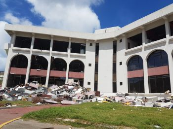 The Government owned Central Administration Complex that was devastated by Hurricane Irma on September 6, 2017. Photo: VINO/File