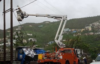 Residents throughout the territory have expressed that they are receiving utility bills for months that they were without electricity following the hurricanes of September 2017. Photo: VINO/File