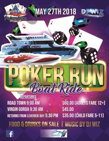 Poker Run Boat Ride scheduled to depart form Road Town at 9:00 A.M. and dock at Virgin Gorda at 9:30 A.M. before the competition begins. Photo: Facebook