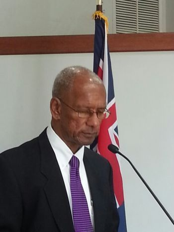 Dr The Honourable D. Orlando Smith (AL), Premier and Minister of Finance, along with other ministries will direct the Recovery Agency on what projects and plans they wish to carry out which will allow the central ministries to continue with their work. Photo: VINO/File