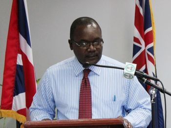 Permanent Secretary in the Ministry of Natural Resources and Labour Ronald F. Smith-Berkeley said that the coral reefs contribute billions of dollars to Caribbean economies from tourism hence the importance of the study by the United Kingdom based experts emanating from the Newcastle University. Photo: VINO/File
