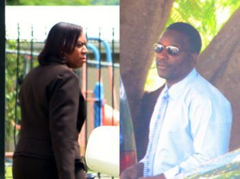 Directors of Vanguard Security Services, Brian Penn (right) and Harinder Steven-Penn, are expected to appear before the Magistrate's Court today, January 7, 2014 to answer over 200 fraud related charges. Photo: VINO/File