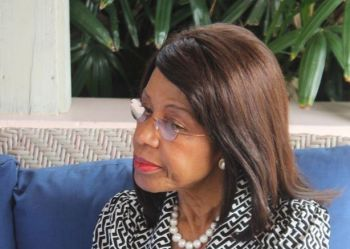 Mrs. Lorna G. Smith OBE, Interim Executive Director of BVI Finance stated that the VI is a sound and reliable centre which has worked harder than many bigger nations to meet international standards, and is not a tax haven. Photo: Vino/File