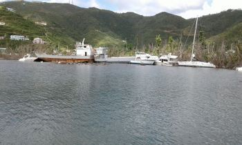 More abandoned vessels in the Sea Cows Bay harbour following hurricanes Irma and Maria. Photo: Team of Reporters