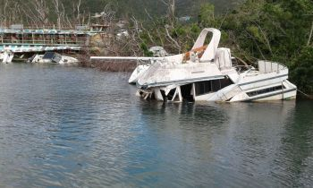Abandoned vessels in the Sea Cows Bay harbour following hurricanes Irma and Maria. Photo: Team of Reporters