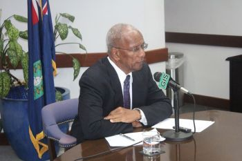 Premier and Minister of Finance Dr the Honourable D. Orlando Smith's said not to be taking the Opposition seriously. Photo: VINO/File