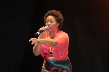 Mrs Shereen Flax-Charles Flax made her return on stage in the Calypso Competition of the Virgin Gorda Easter Festival of 2014 this year and despite she did not make in the top three there hopes are high for her at the Tortola Festival. Photo: VINO/File