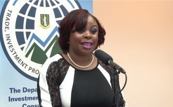 Director of Trade, Investment Promotion and Consumer Affairs, Mrs Karia J. Christopher is 'encouraging small business owners to cooperate with trade inspectors, when the checks are being conducted'. Photo: VINO/File