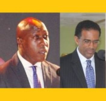 The CADRES survey stated that NDP voters believed Hon Myron V. Walwyn (AL), The Education and Culture Minister (left) is the best preforming Minister and Hon Kedrick D. Pickering (R7) Deputy Premier and Minister for Natural Resources and Labour (R7) right has the worst performance. Photo: VINO/File