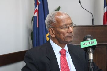 Premier and Minister of Finance, Dr The Honourable D. Orlando Smith (AL), strongly stated that his government will not comply with the Bill until it becomes a 'global standard'. Photo: VINO/File