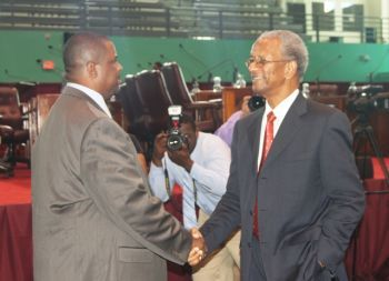Members of the Opposition are prepared to work hand and glove with the NDP Government and by extension the People of the Virgin Islands in complying with or in re-negotiation of specific sections of the Protocol, Hon Fahie said. Photo: VINO/file