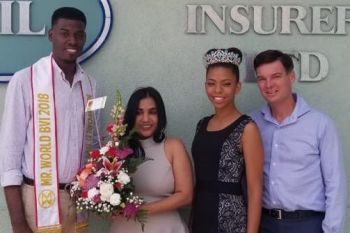 Miss BVI 2018, Yadali Thomas Santos (second from right) performing her official duties recently. Photo: Facebook