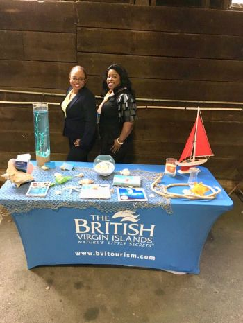 "The BVI Tourist Board promoted the territory through an interactive display booth, entitled ""Sun, Sand and Sea"". Photo: BVI Tourist Board"