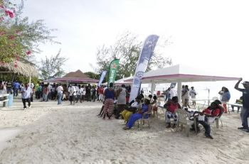 Visitors and locals alike out and about at the 3rd annual Anegada Lobster Fest. Photo: Mangoman Photography