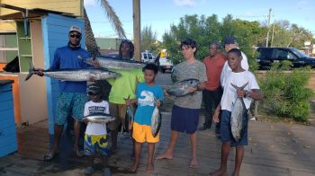 Team Underdogs with captain Gerry, walked away with the 1st prized for the 2019 edition of the Virgin Gorda (VG) Easter Festival Fishing Competition, having caught 321lbs of fish overall. Photo: VINO