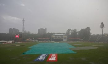 Rain stopped play in Harare, leading to Scotland's heartbreak over a place at the 2019 World Cup. Photo: Julian Herbert/IDI via Getty Images