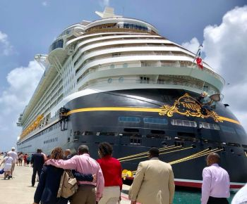 The cruise ship brought with it, in excess of 3,000 passengers and 1,500 crew members. Photo: Facebook