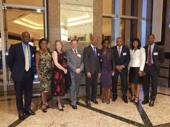 Premier Dr The Hon D. Orlando Smith (centre) is currently leading a delegation in the Asia Pacific Region on a trade mission. Photo: GIS