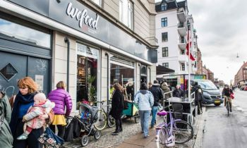 Wefood, which sells expired food in Copenhagen, Denmark, had proved such a huge success as food waste becomes a hot topic worldwide that it opened a second branch in 2016. Photo: Soren Bidstrup/AFP/Getty Images