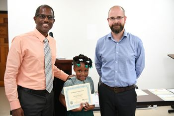 Primary division winner Niomi Caines of the St. Georges Primary School. Photo: Provided