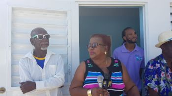 From left: Mr Anderson Hamm, Mrs Grace Flax-Walters and Mr Allington O. Creque aka 'Gumption'. Photo: VINO