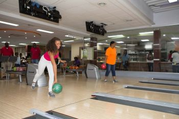 Yadali Thomas-Santos bowling to knock out cancer! Photo: Provided