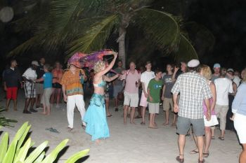 One of the revellers dancing to the beat of the drums during the Full Moon party. Photo:VINO