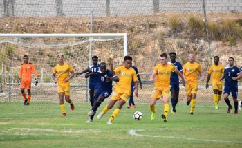 Tyler Forbes (#20 with ball) says the Virgin Islands team is excited about the upcoming World Cup Qualifiers. Photo: Facebook