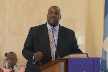 Premier and Minister of Finance, Hon Andrew A. Fahie (R1) has announced that the $5 Inter-Island Airport Development Fee (ADF), which forces domestic passengers to pay for development works at the Terrance B. Lettsome International Airport on Beef Island, will soon be disbanded. Photo: GIS/File