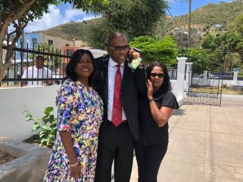 Provided Mr Mark H. Vanterpool, centre, doesn't have another sudden change of heart, it will be some four months after he was re-elected as the Representative of the Fourth District that he would be sworn in as a Member of the House of Assembly on July 16, 2019. Photo: Facebook/File