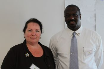 Mr Lew T. Edwards and Mrs Leas A. Edwards of Edwards Consulting Investment of St. Thomas, US Virgin Islands, are the facilitators of the workshop. Photo: VINO