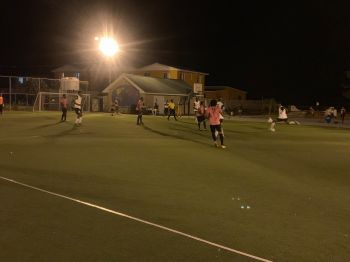 Islanders and One Love do battle in the preliminary round of the BVI Football Association's 2019 Futsal Tournament. That game ended 3-3. Photo: BVIFA/Facebook