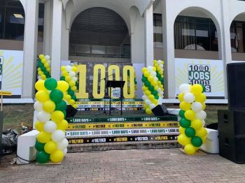 The 1000 Jobs in 1000 Days employment initiative was launched at Central Administration Complex on Wickham's Cay 1, Tortola, on August 21, 2019. Photo: Facebook