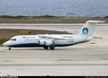 Premier and Minister of Finance, Honourable Andrew A. Fahie (R1) has said he was advised against giving any details on the BVI Airways deal as the matter is in a US court. Photo: Jet Photos