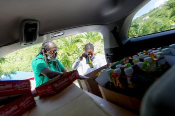 Some 700 gifts were prepared for all the primary and secondary teachers, both public and private, across the entire territory; Tortola, Anegada, Virgin Gorda and Jost Van Dyke. Photo: Facebook