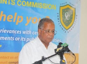 Elton Georges, CMG, OBE, a long time former Deputy Governor, is the first and only person to hold the post of Complaints Commissioner of the Virgin Islands. Photo: VINO/File