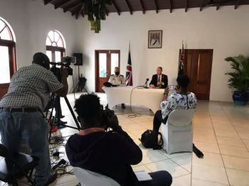 Meanwhile, at least one local journalist has since broken their silence over the alleged restrictive nature of the joint press conference and an unwillingness to be forthcoming with information. Photo: Facebook/File