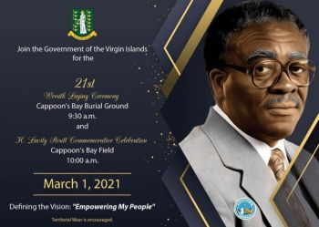 Dr Natalio D. Wheatley was at the time speaking at a March 1, 2021, event at the Cappoon's Bay Recreation Ground on Tortola to celebrating the legacy of H. Lavity Stoutt at the annual Wreath Laying & Commemorative Celebration. Photo: GIS/Facebook