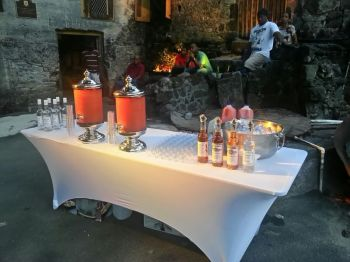 Samples of Callwood Rum on display at the 2nd Annual BVI Food Fete launch in 2015. Photo: VINO/File