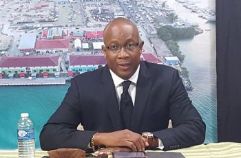 Mr Claude O. Skelton-Cline, speaking at a press conference held at the studies of CBN Channel 51 on Tuesday evening April 12, 2016, said the Ports Project was first a public-private partnership with a consortium which represented that they could have built the development for x amount of dollars and there would be some contributions of community efforts along the way. Photo: VINO/File