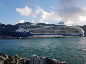 Premier and Minister of Finance, Dr The Honourable D. Orlando Smith (AL)and Second District Representative Honourable Melvin M. Turnbull have disagreed on the Virgin Islands' readiness to welcome back cruise ships. Photo: VINO/File