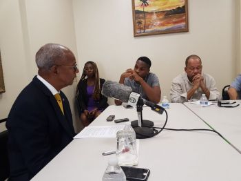 "Asked if there are any 'takers', for possible investment in the airport runway expansion, Premier, Dr the Honourable, D. Orlando Smith, responded saying, ""I have no details but I understand that there are interests."" Photo: VINO/File"