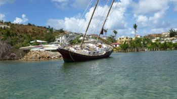 In March 2018, VINO had reported on the unsightly eyesore of the derelict vessels throughout the territory. Photo: GIS