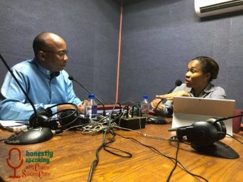 Ms Shaina M. Smith, right, was a guest of Mr Claude O. Skelton- Cline on his weekly radio show, Honestly Speaking, aired February 27, 2018 on ZBVI 780 AM at 5:00 P.M. Photo: Facebook