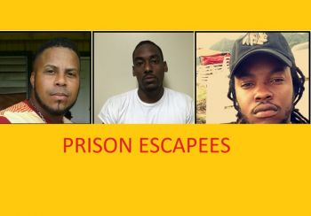 The three prisoners still at large after escaping from Her Majesty's Prison following the passage of Hurricane Irma on September 6, 2017. From left: Santo Yamarco Hernandez, Jose Almestica, and Kareem Hodge. Photo: RVIPF