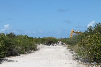 """The dumpsite at Nutmeg Point, Anegada. According to the Department of Waste Management Annual Report of 2012, the contractor in Anegada continued to provide poor service to the public. """"This particular contractor frequently skipped collection days and was late in providing his service,"""" the 2012 DWM Report alleged. Photo: VINO/File"""